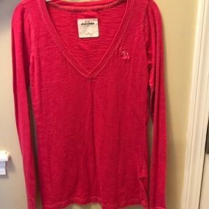 Pink Abercrombie Kids Long Sleeve